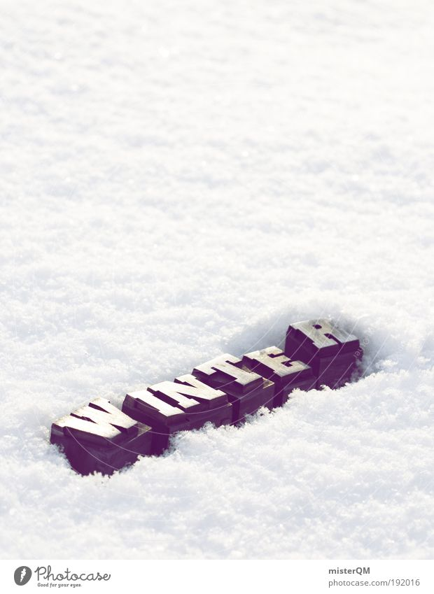 White Winter Cold Weather Signs and labeling Esthetic Frost Letters (alphabet) Keyword Frozen Seasons Symbols and metaphors Typography Word