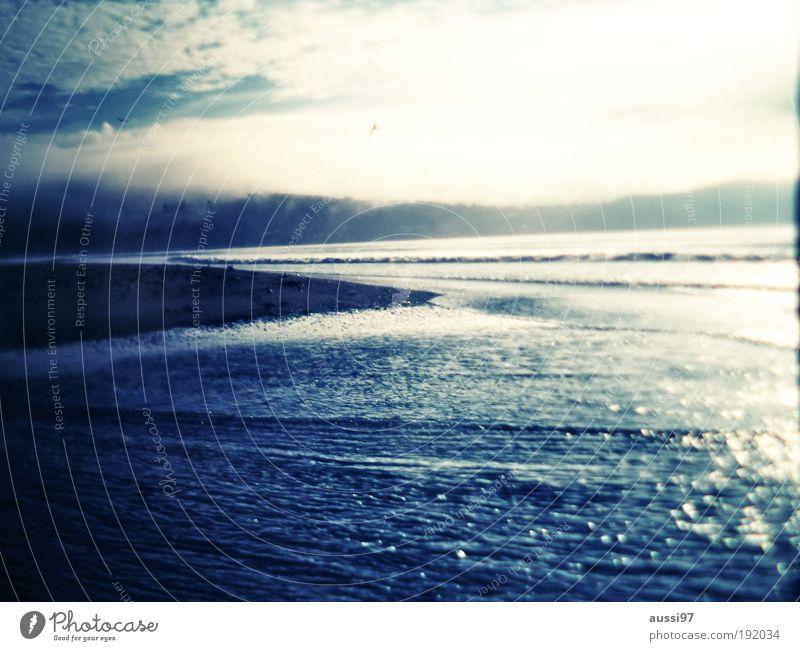 99 mile beach Beach Twilight melancholy sad New Zealand hazy Back-light solvent