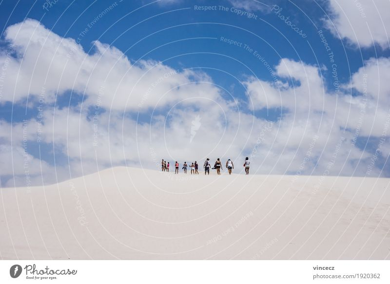 White Desert Vacation & Travel Trip Adventure Far-off places Freedom Expedition Summer Sun Hiking Human being Group Elements Sand Sky Horizon Beautiful weather