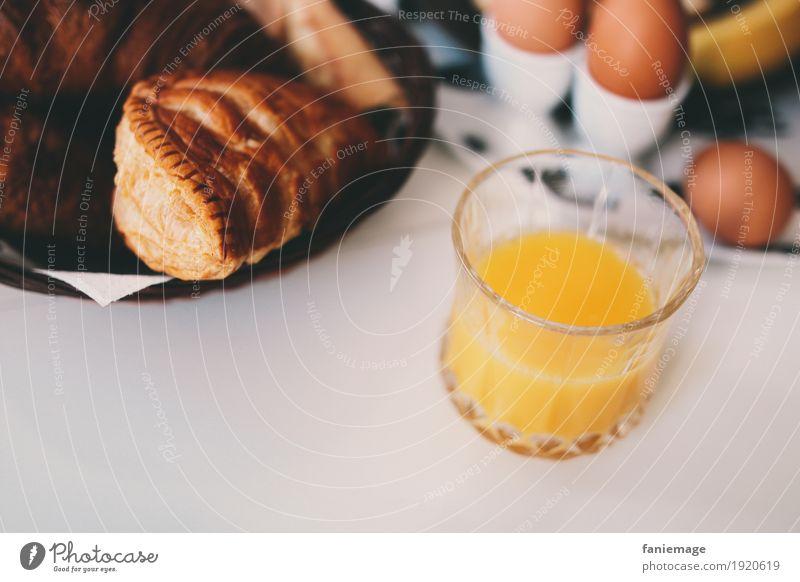 petit déj I Food Orange Dough Baked goods Croissant Nutrition Breakfast Beverage Drinking Cold drink Juice Delicious France apple turnover Apple Glass Egg