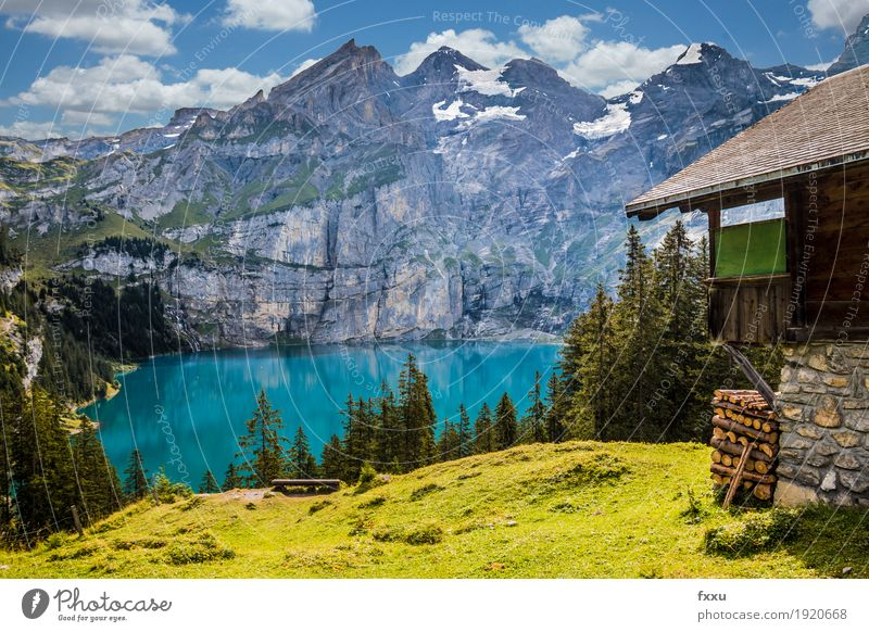 Nature Blue Summer Green Landscape Loneliness Clouds Forest Mountain Yellow Life Lake Rock Contentment Hiking Esthetic