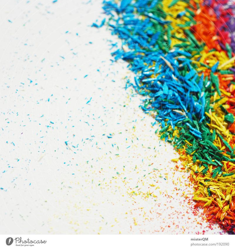 Let's colour the World. Art Esthetic Pen Point Dye Multicoloured Prismatic colors Rainbow Creativity Idea Yellow Red Blue Many Particle Design Fashioned Modern
