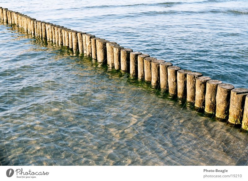 Evening Lake Ocean Break water Waves Beach Evening sun Dusk Harmonious Vacation & Travel Zingst Baltic Sea Water Sand soft light Peaceful mild breeze sea