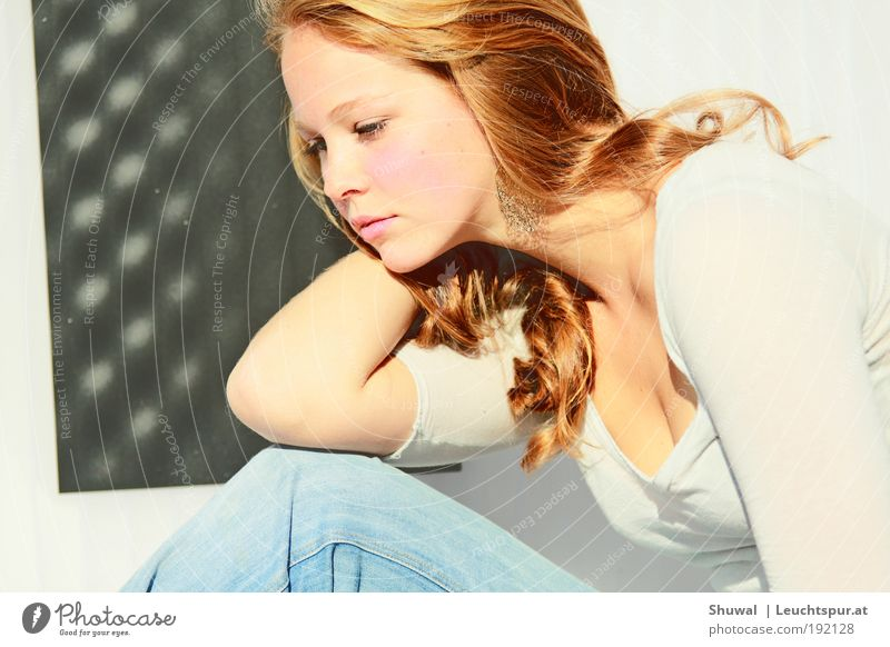 All at once, the world can't overwhelm me Elegant Beautiful Feminine Young woman Youth (Young adults) 18 - 30 years Adults Earring Red-haired Soft Emotions