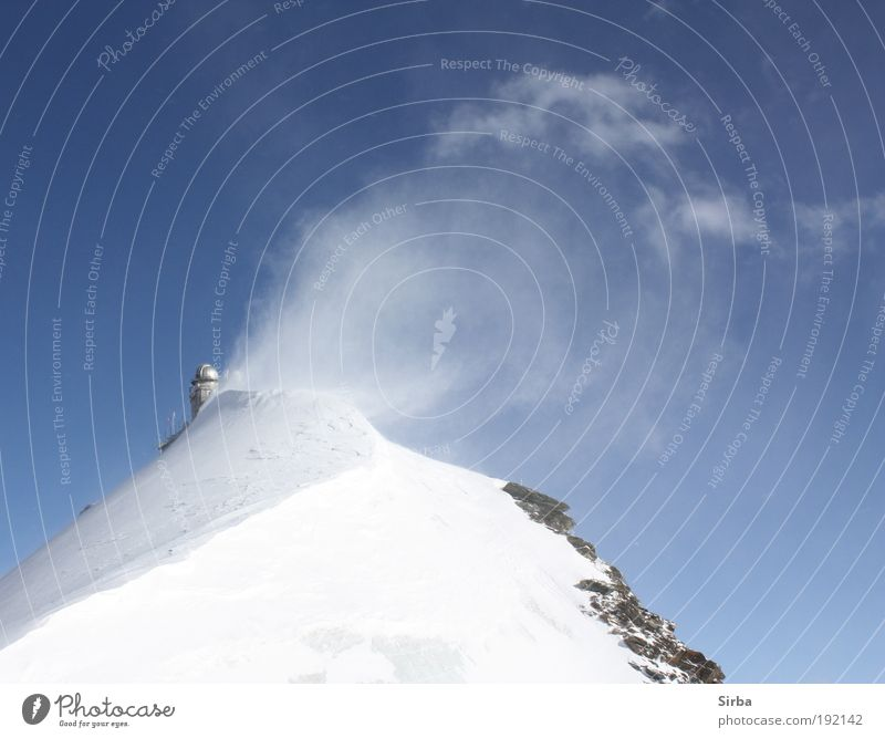 White Blue Winter Vacation & Travel Snow Mountain Glittering Environment Large Alps Peak Illuminate Freeze Beautiful weather Action Snowcapped peak