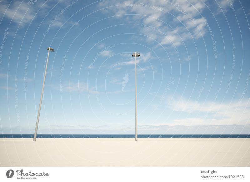 show affection Environment Nature Sky Clouds Climate Beautiful weather Wall (barrier) Wall (building) Terrace Lantern Street lighting Lamp Clean Blue Loneliness