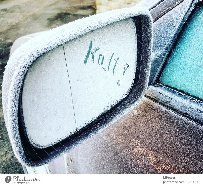 chill Car Cold Frost Rear view mirror Winter Ice Transport Stress