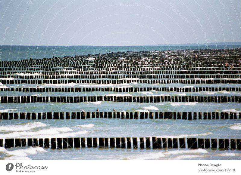 Beach Waves Baltic Sea Break water Zingst Sea water