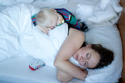 Silence at last! Healthy Living or residing Flat (apartment) Bedroom Child Baby Toddler Woman Adults Parents Mother Family & Relations Infancy Life 2