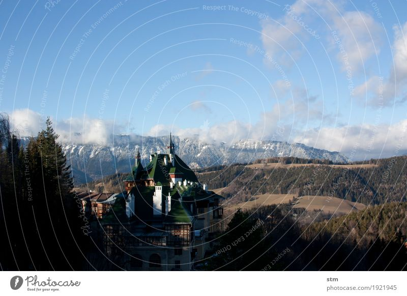 Sky Vacation & Travel Sun Landscape House (Residential Structure) Calm Winter Far-off places Mountain Architecture Autumn Tourism Rock Trip Hiking