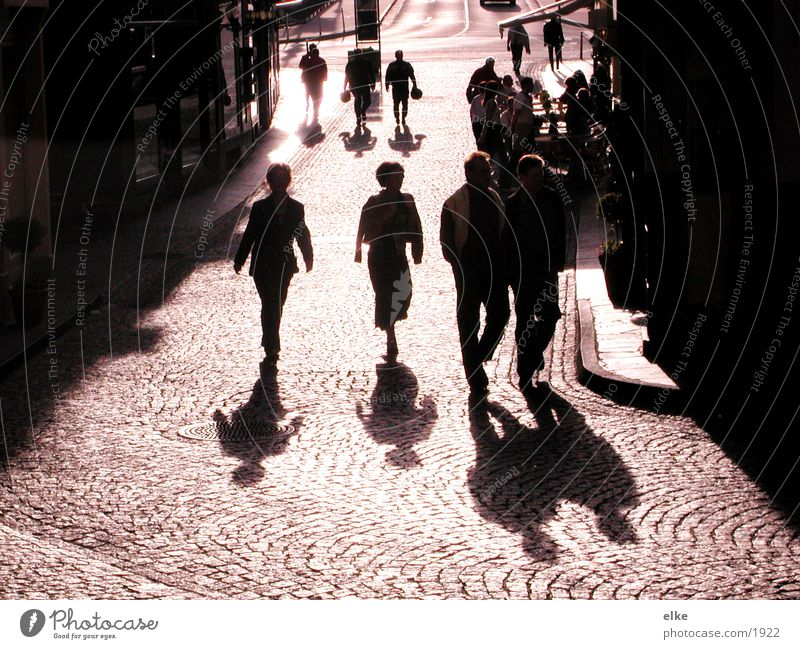 people are everywhere Human being House (Residential Structure) To go for a walk Group Shadow Cobblestones ...