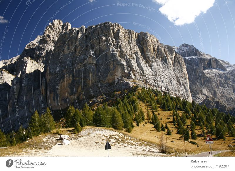 Sella stick Vacation & Travel Tourism Trip Freedom Expedition Mountain Environment Nature Landscape Clouds Sunlight Autumn Climate Weather Beautiful weather