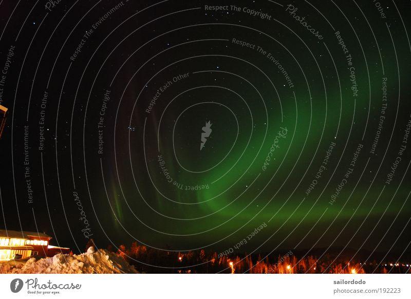 Nature Green Black Moody Night sky Wanderlust Surprise Timidity Long exposure Aurora Borealis Polar night