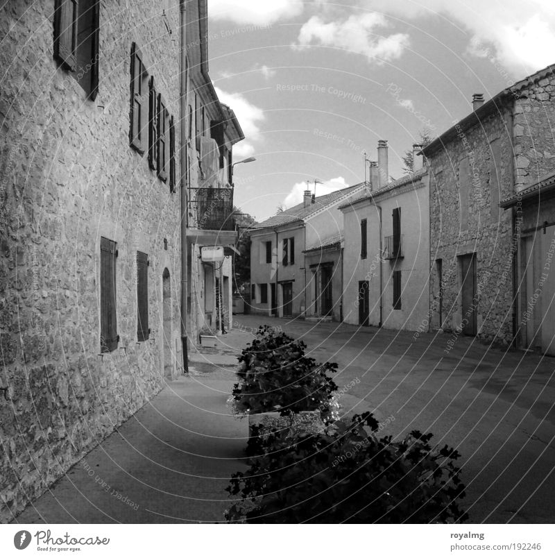 Old House (Residential Structure) Gloomy Black & white photo France Provence Town Southern France