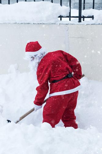 winter road clearance Lifestyle Winter Snow Christmas & Advent Work and employment Human being Masculine 1 Nature Snowfall Garden Exceptional Red Determination