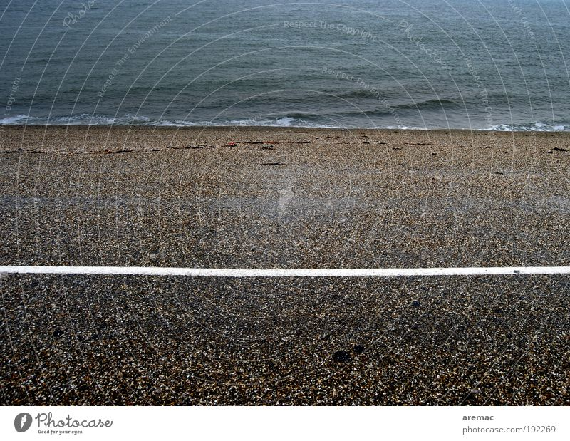 Water Blue Beach Black Loneliness Street Cold Gray Landscape Line Coast Road traffic Traffic infrastructure North Sea Netherlands