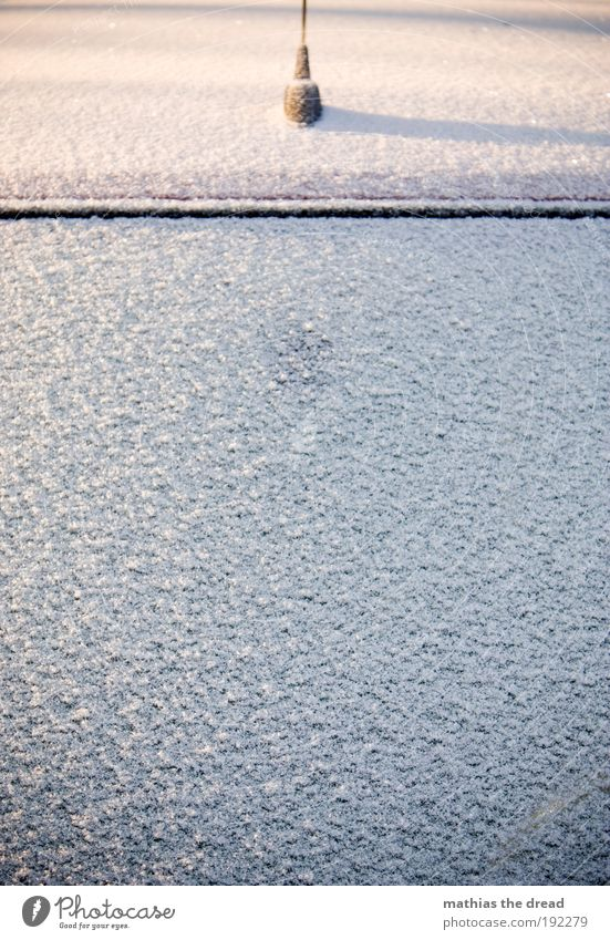 PLEASE CRATES Winter Ice Frost Snow Transport Motoring Car Cold Windscreen Morning ice scraping Dreadful Minimalistic Car Window Normal Colour photo