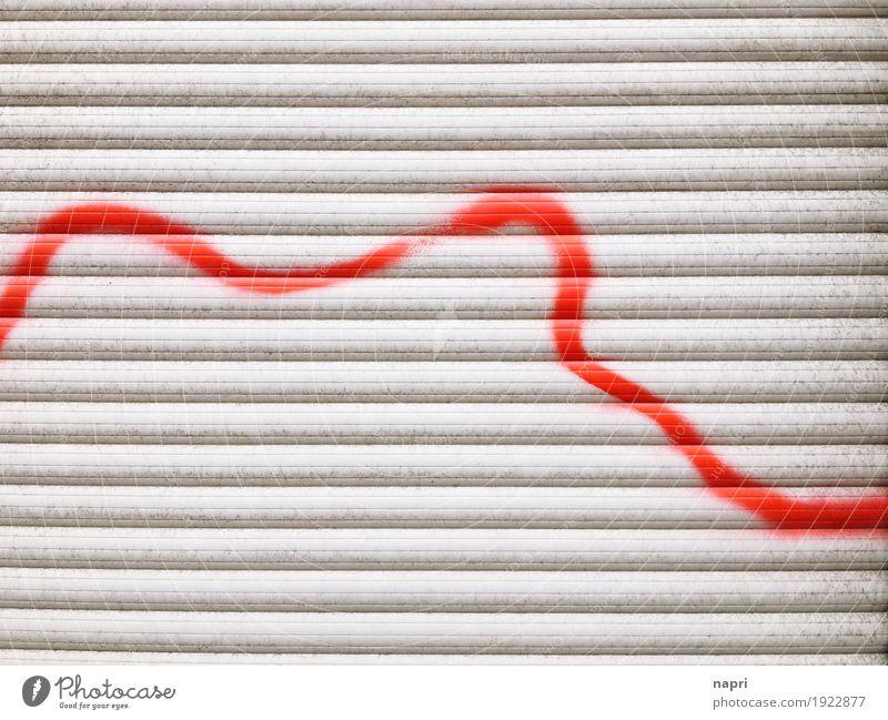 lifeline Window Plastic Gray Red Revolt Moody Argument Stress Date Lanes & trails Anger Destruction Line Lined Life line Curve Roller shutter Graffiti Sprayed