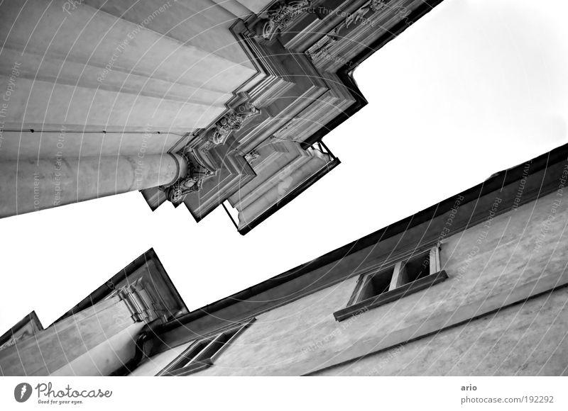 House (Residential Structure) Window Architecture Line Church Corner Landmark Tourist Attraction Dome Nostalgia Gothic period Monochrome Graz