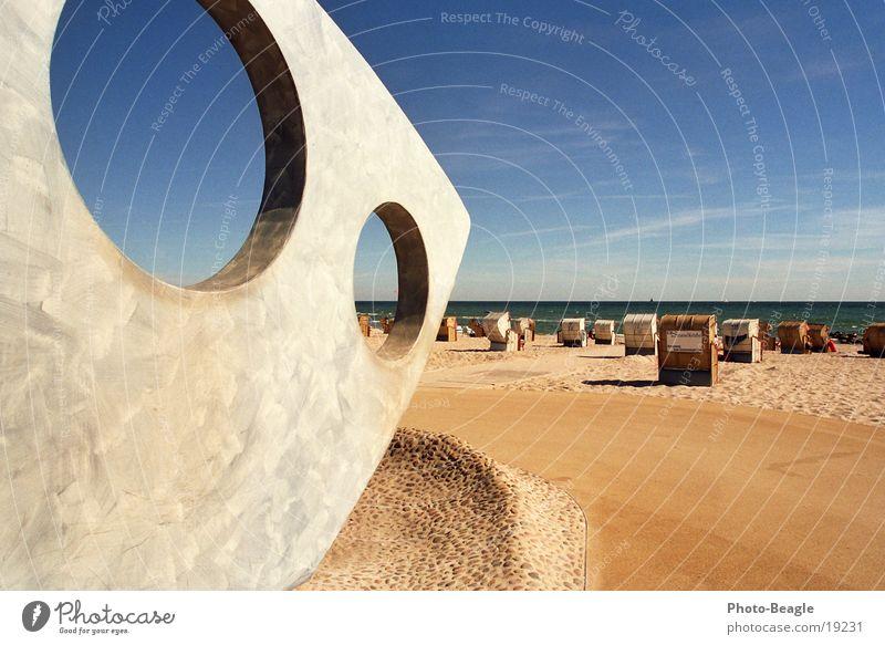 Ocean Summer Beach Vacation & Travel Lake Warmth Europe Physics Baltic Sea Beach chair August Goof off Kellenhusen