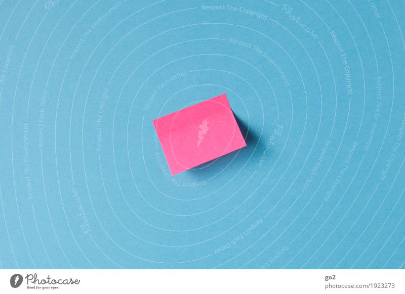 memo Office work Workplace Meeting Piece of paper Paper Signs and labeling Communicate Esthetic Simple Blue Pink Idea Inspiration Contact Problem solving
