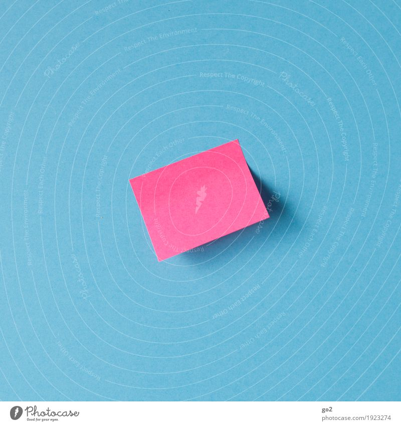 message To talk Piece of paper Paper Signs and labeling Communicate Simple Blue Pink Idea Inspiration Contact Creativity Date Information Blank Colour photo