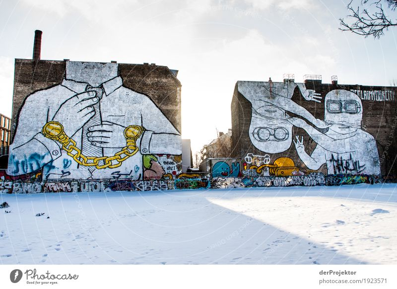 Once upon a time: Graffiti on the Cuvry site Vacation & Travel Tourism Trip Freedom Sightseeing City trip Environment Landscape Winter Ice Frost Snow