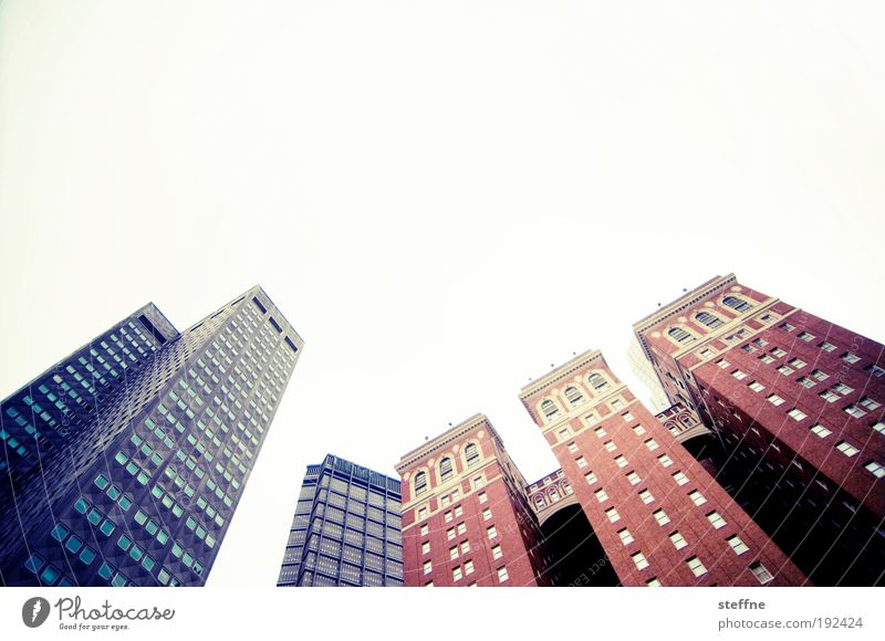 The 3 Peaks Cloudless sky Beautiful weather Pittsburgh USA Downtown Skyline High-rise Wall (barrier) Wall (building) Facade Window Town Business Advancement