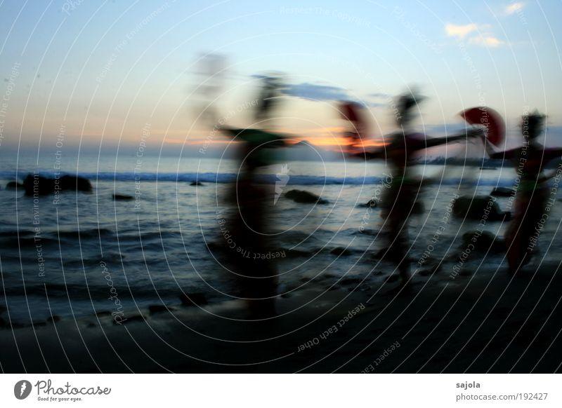 Human being Woman Sky Nature Water Vacation & Travel Summer Ocean Beach Adults Environment Landscape Movement Waves Dance Going