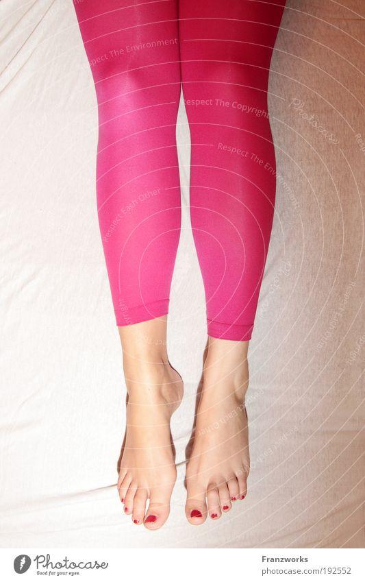 Bed Ballet II. Feminine Flying Hang Sleep Dream Infatuation Longing Esthetic Contentment Ease Senses Animal foot Legs Toenail Toes Tights Positive Woman Sheet