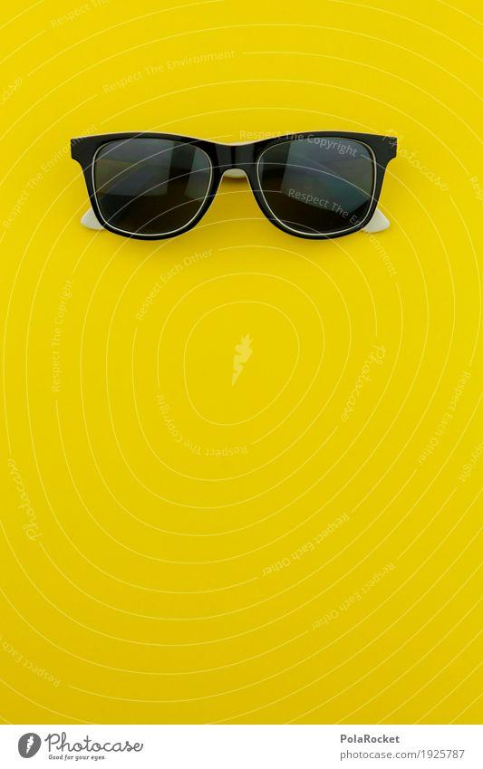#AS# Banana Man Art Work of art Creativity Yellow Yellowness Sunglasses Crazy Cool (slang) Style Black Fashion Fashion industry Colour photo Multicoloured