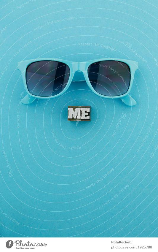 #AS# ME goes COOL Art Work of art Esthetic Cool (slang) Blue Sunglasses Vista Looking Fashion Style Gaudy Creativity Blue tint Colour photo Multicoloured