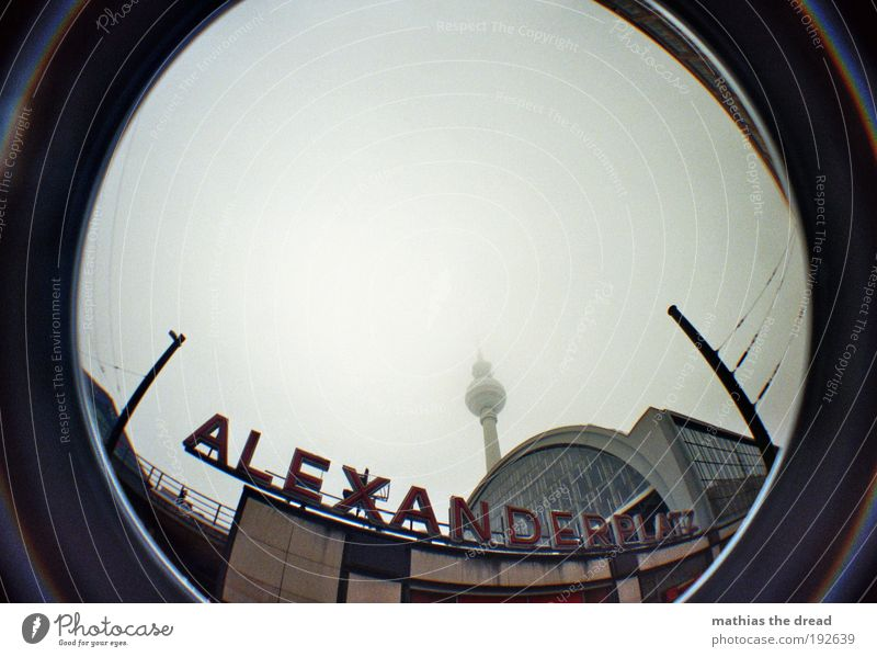 alexanderplatz Sky Clouds Winter Bad weather Town Capital city Downtown Pedestrian precinct Skyline Manmade structures Building Architecture Tourist Attraction