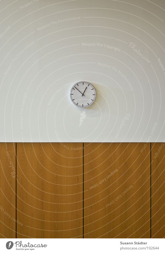 soon is noon Measuring instrument Clock Wood Wait Timeless Wood panelling Furrow Lecture hall Impatience 13 o'clock Clock face Analog Hour hand Academic studies
