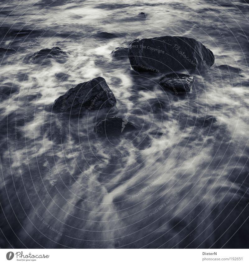 Water White Ocean Beach Black Emotions Landscape Waves Coast Rock Elements Baltic Sea Black & white photo