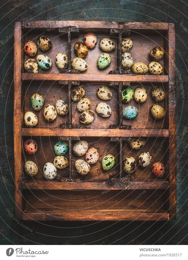Nature Joy Religion and faith Style Wood Feasts & Celebrations Design Living or residing Decoration Easter Tradition Egg Vintage Rustic Wooden box