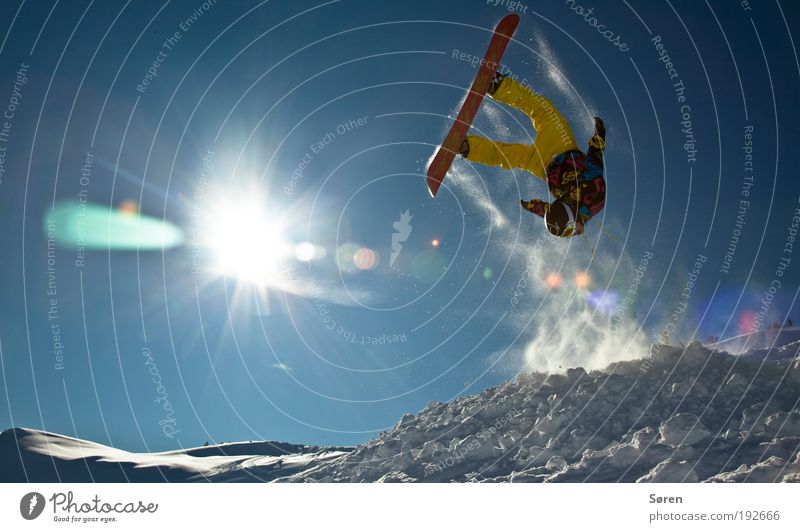 FLY ON THE WING OF LOOOOVE Masculine Young man Youth (Young adults) 1 Human being 18 - 30 years Adults Youth culture Winter Beautiful weather Alps