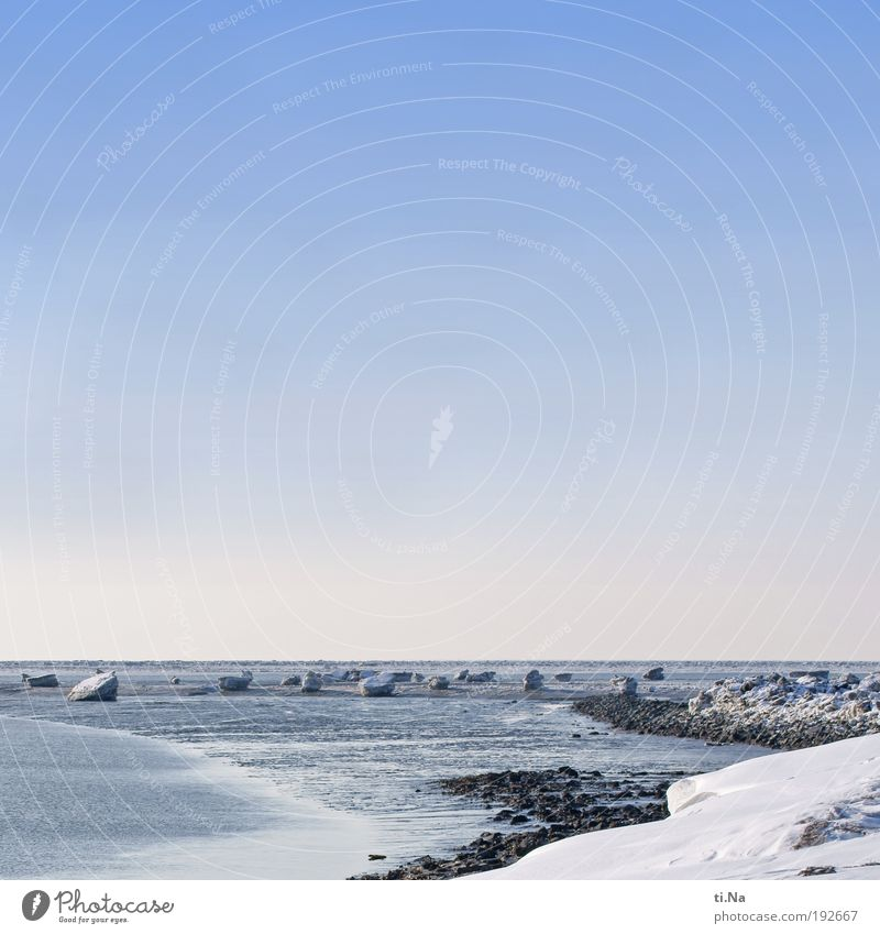it was nice Calm Tourism Trip Freedom Ocean Winter Snow Environment Nature Landscape Elements Air Water Horizon Beautiful weather Ice Frost Coast North Sea