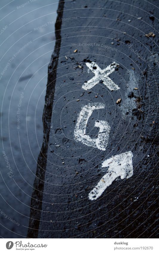 Street Stone Lanes & trails Line Graffiti Wet Signs and labeling Characters Digits and numbers Arrow Crucifix Ornament Road sign Art