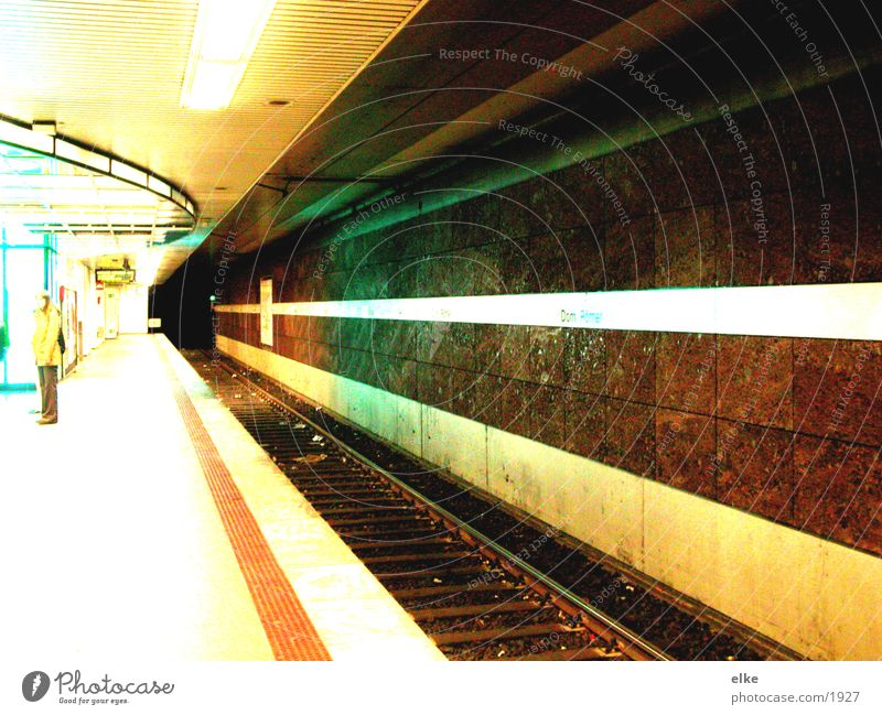 luminescent Underground Platform Transport Human being