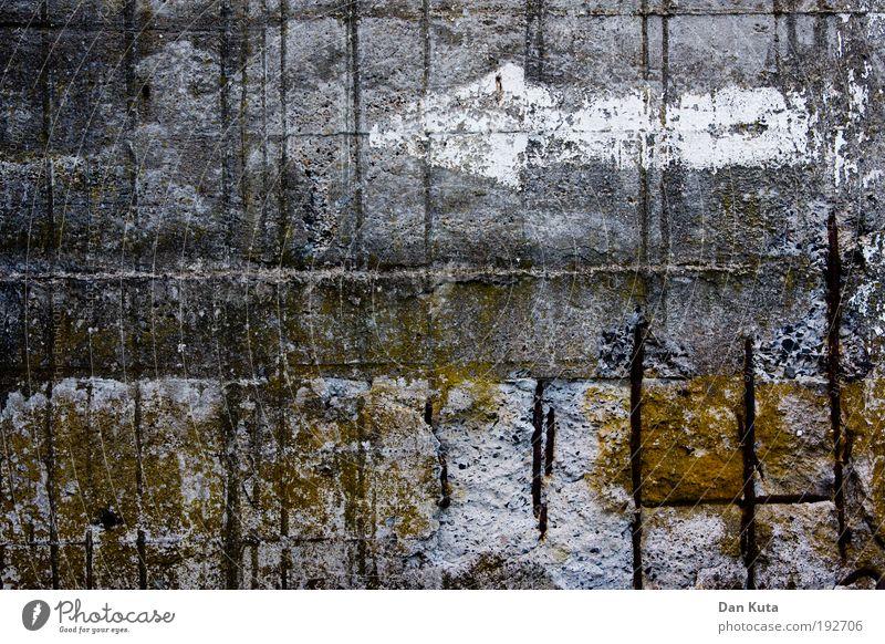Nature Calm Loneliness Autumn Landscape Mountain Lake Dirty Fog Concrete Elements Shabby Moss Destruction Pond Surrealism