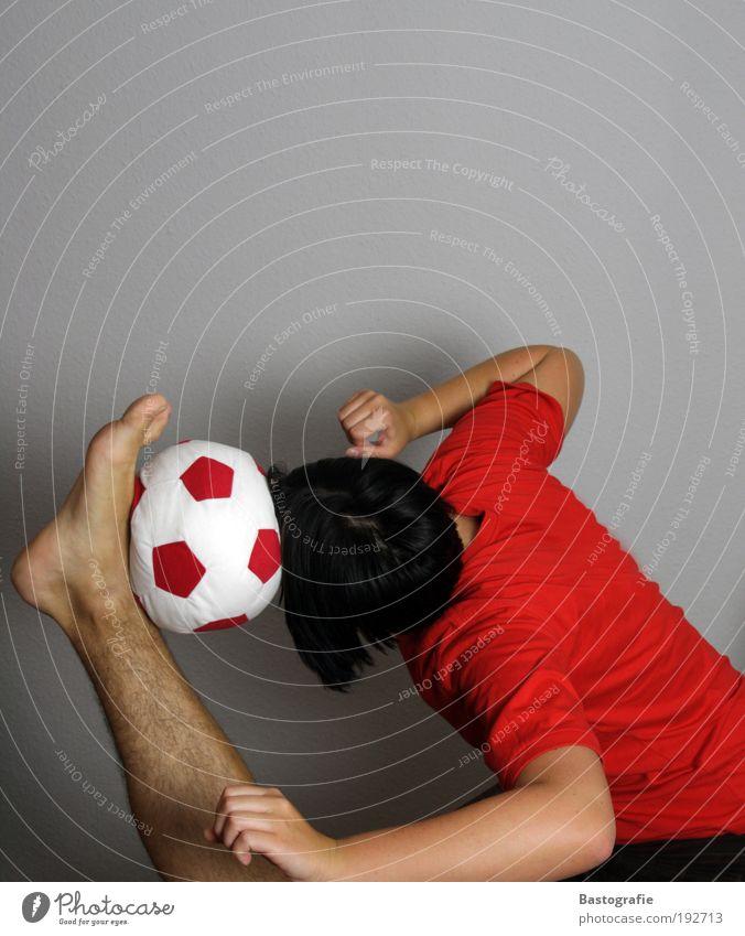 White Red Sports Head Legs Arm Soccer Masculine Success Foot ball Goal Sports Training Barefoot Sportsperson Acrobatics Ball sports