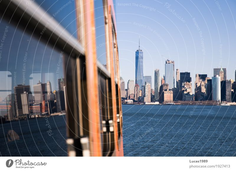 New York City - Reflections Vacation & Travel Tourism Trip Far-off places Sightseeing City trip Cruise Manhattan USA Town Skyline High-rise Tourist Attraction