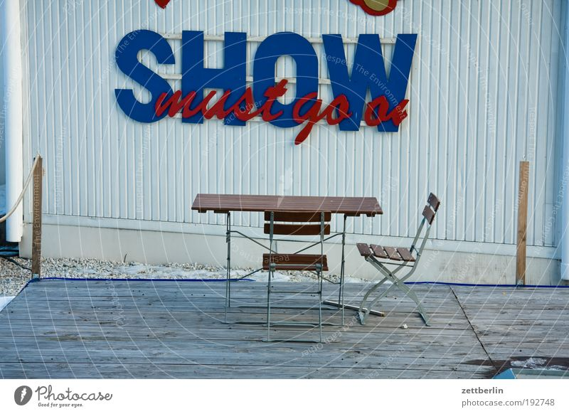 Sadness Gloomy Empty Places Table Break Shows Chair Furniture Expressionless Seating Terrace Agree Strike Jug Event