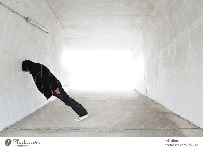 Man White Adults Wall (building) Head Dream Masculine Sleep Stand Lifestyle Corner Illuminate Highway Idea Awareness