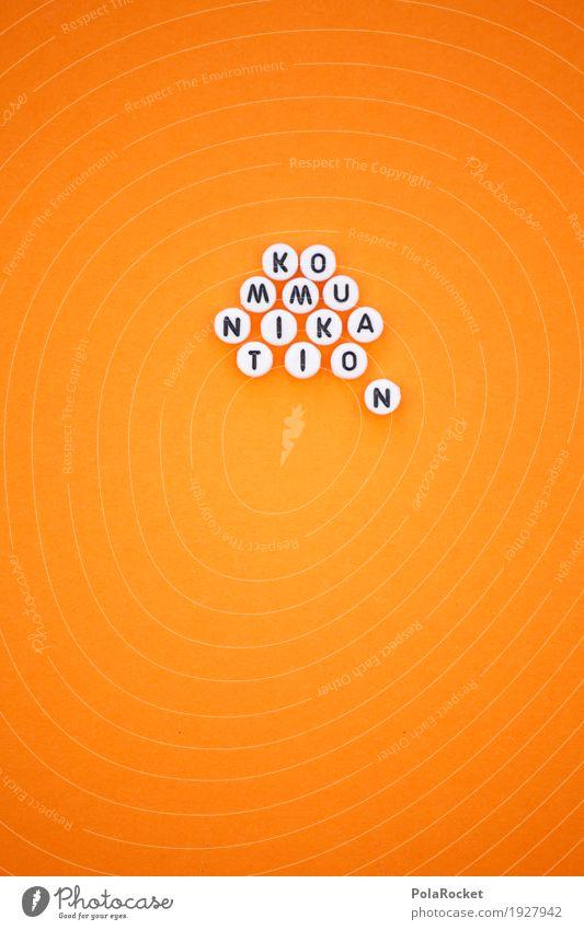 #AS# KO MMU NIKA TIO N Art Esthetic Design Design studio Telecommunications To talk Communicate Means of communication Orange Language Speech bubble Fashioned