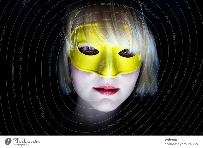 Human being Woman Youth (Young adults) Beautiful Adults Face Yellow Life Head Style Dream Feasts & Celebrations 18 - 30 years Elegant Design Idea