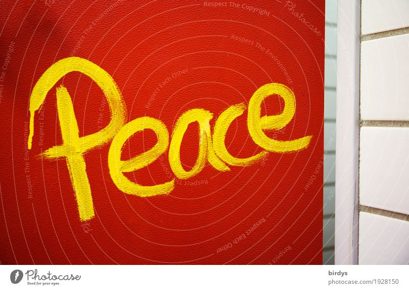 Red Yellow Graffiti Happy Freedom Characters Door Communicate Authentic Success Simple Might Hope Safety Target Peace