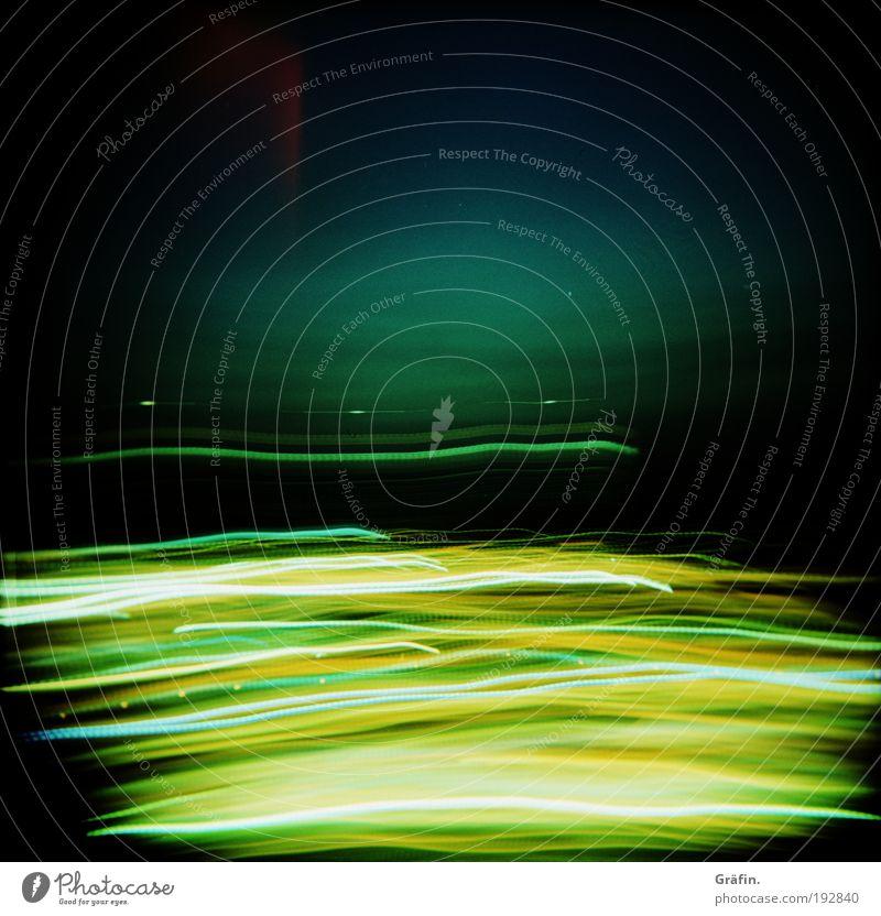 Blue Green Colour Black Yellow Dark Movement Line Gold Glittering Energy Modern Speed Crazy Illuminate Change