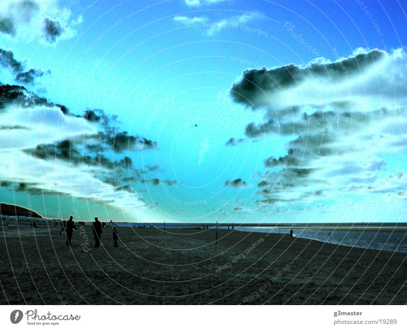 Sun Blue Beach Clouds Europe Island Image editing Spiekeroog